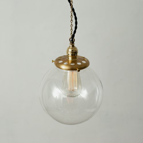 OPL011-CL<br>GLASS SHADE LAMP-L size CL / 真鍮ガラスシェード照明