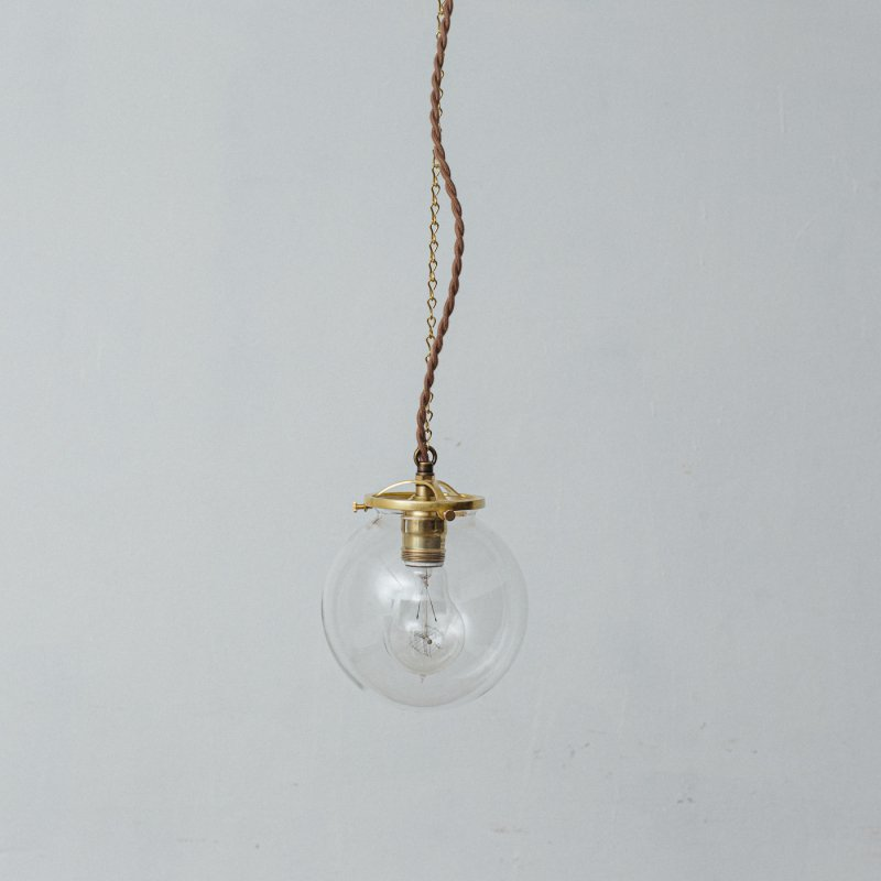 OPL024-CL<br>GLASS SHADE LAMP-S size CL / 真鍮ガラスシェード照明