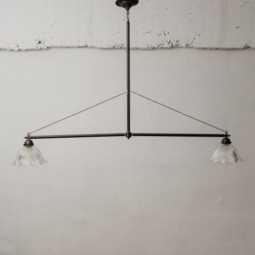 OPL043<br>2 BULBS POLE LIGHT - Black Brass / 真鍮2灯照明