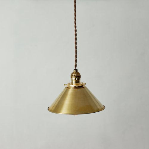 OPL070<br>METAL PENDANT LAMP-S size BRASS / メタルシェード照明 真鍮