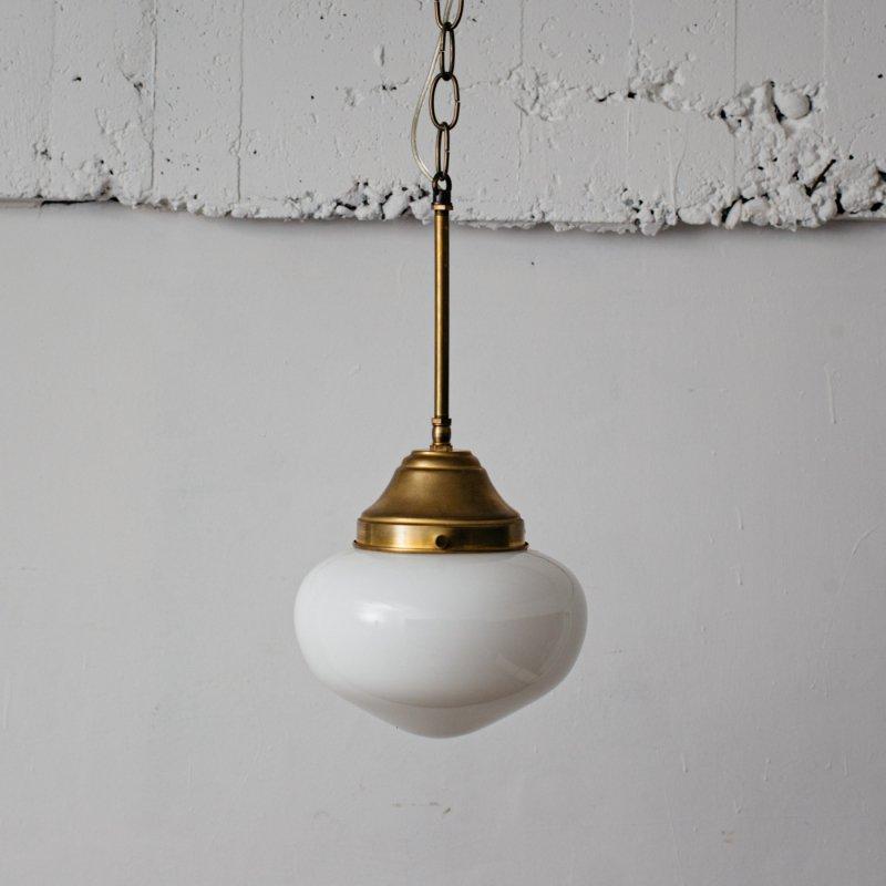 【再入荷】OPL318<br> PENDANT LAMP - M size SCHOOL HOUSE / 真鍮ガラスシェード照明