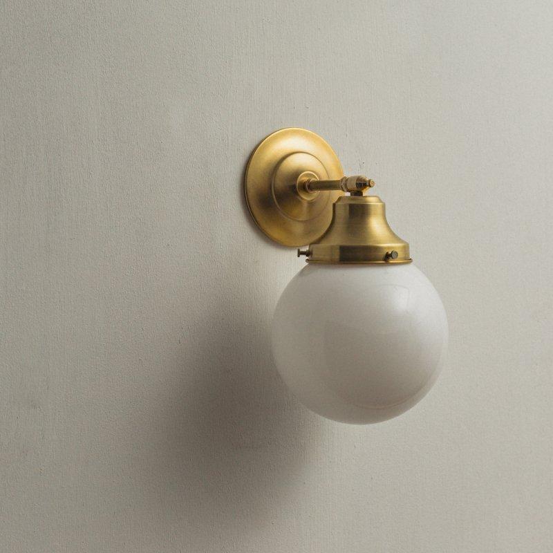 【再入荷】OBL034<br>GLASS SHADE BRACKET LAMP / 真鍮ガラスシェードブラケットランプ