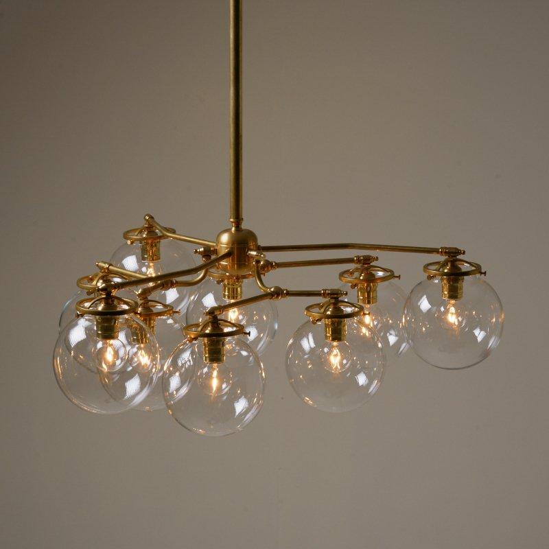 OCH012<br>9 BULBS LIGHT / 真鍮9灯照明シャンデリア