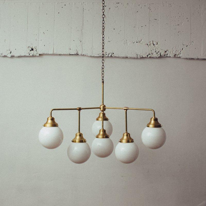【再入荷】OCH019<br>6 BULBS CHANDELIER / 真鍮6灯照明シャンデリア