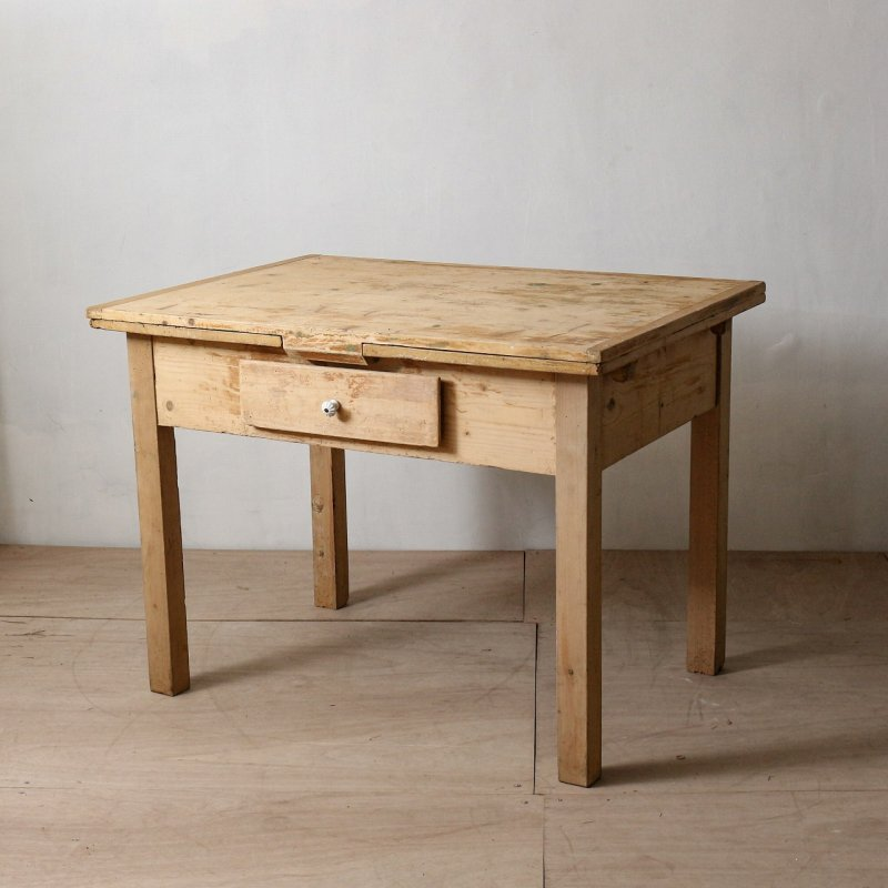 DRAW LEAF KITCHEN TABLE<br>ヴィンテージ ドローリーフキッチンテーブル