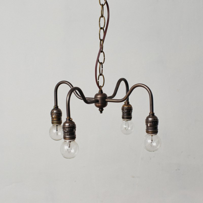 OPL005-A<br>4 BULBS LIGHT - Black Brass / 真鍮4灯照明