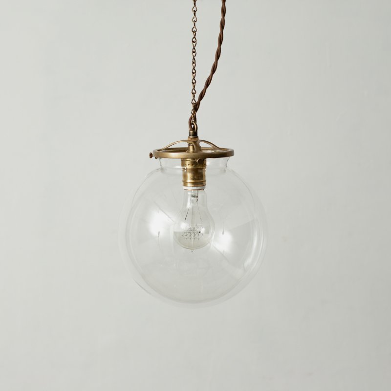 OPL022-CL<br>GLASS SHADE LAMP-L size CL / 真鍮ガラスシェード照明