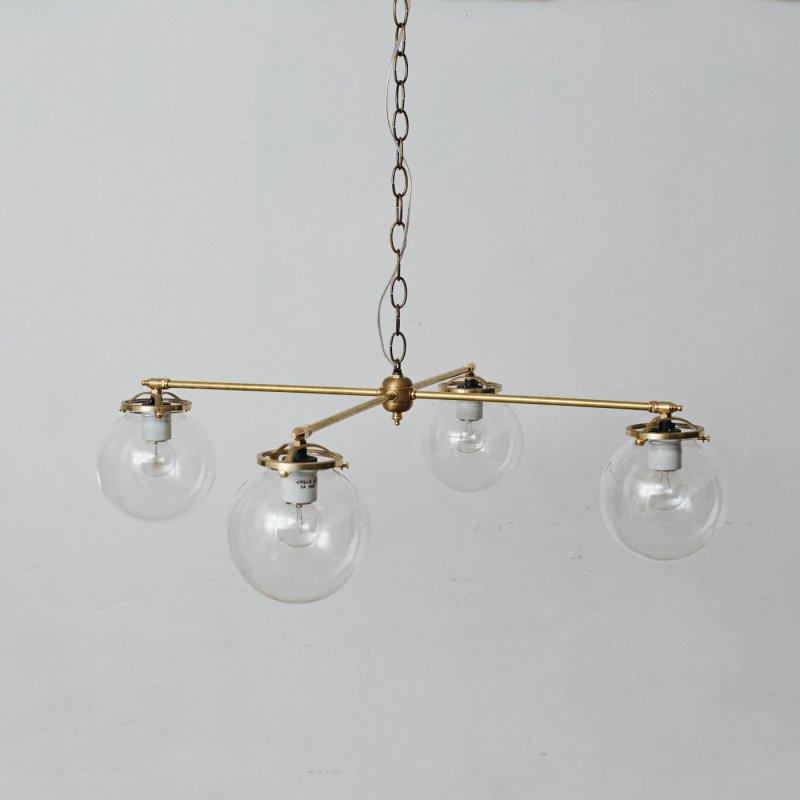 OCH010-CL<br>4 BULBS LIGHT CL / 真鍮4灯照明シャンデリア