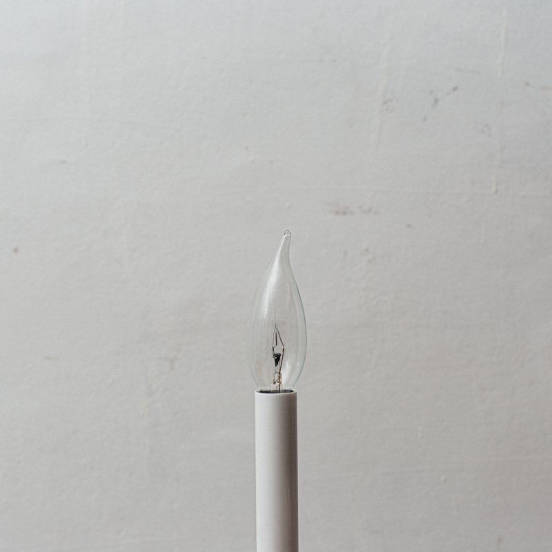 LAMP BULB E12 60W - FLAME TIP CL<br>白熱電球 E12 60W クリア