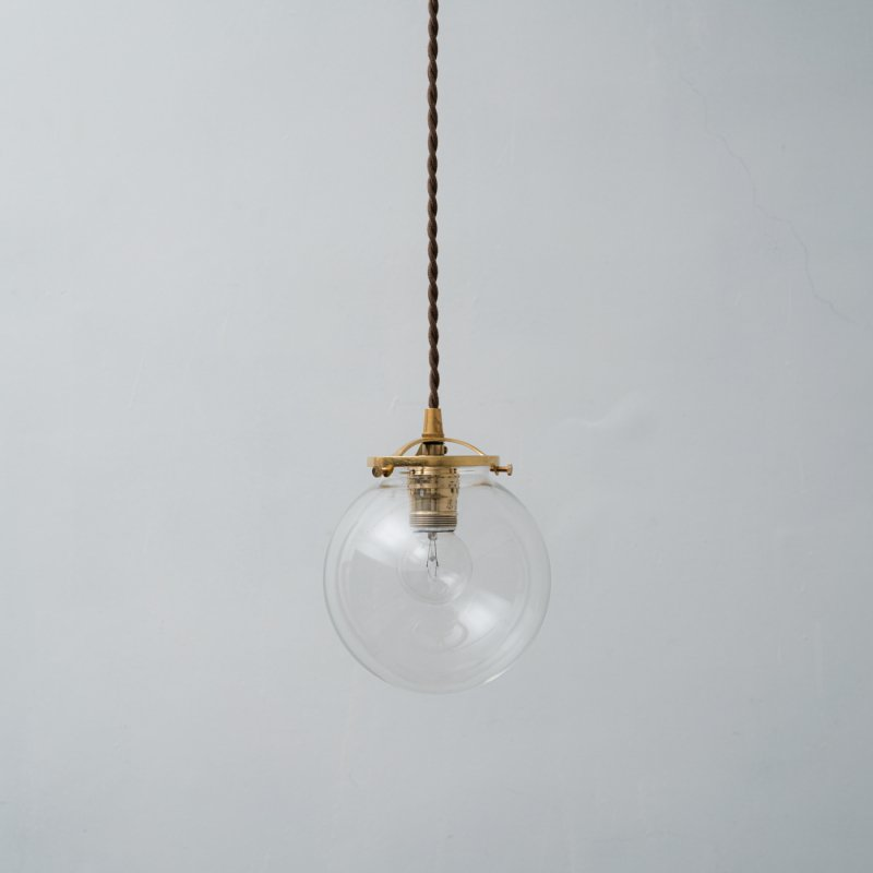 OPL102<br>GLASS SHADE LAMP-S size CL / 真鍮ガラスシェード照明