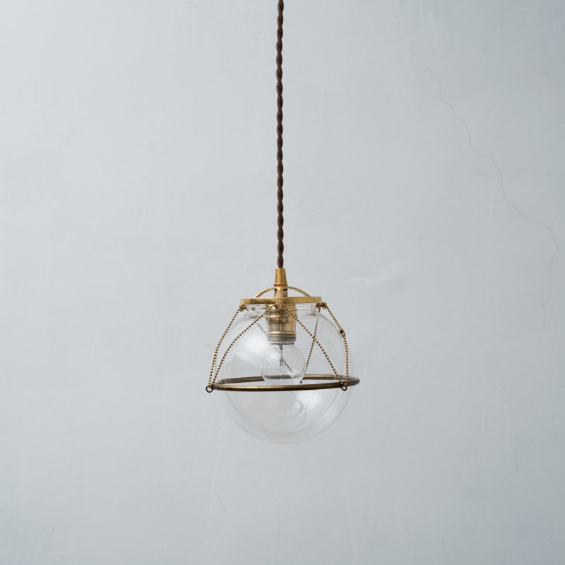 OPL103<br>GLASS SHADE LAMP-S size ACCESSORIES / 真鍮ガラスシェード照明