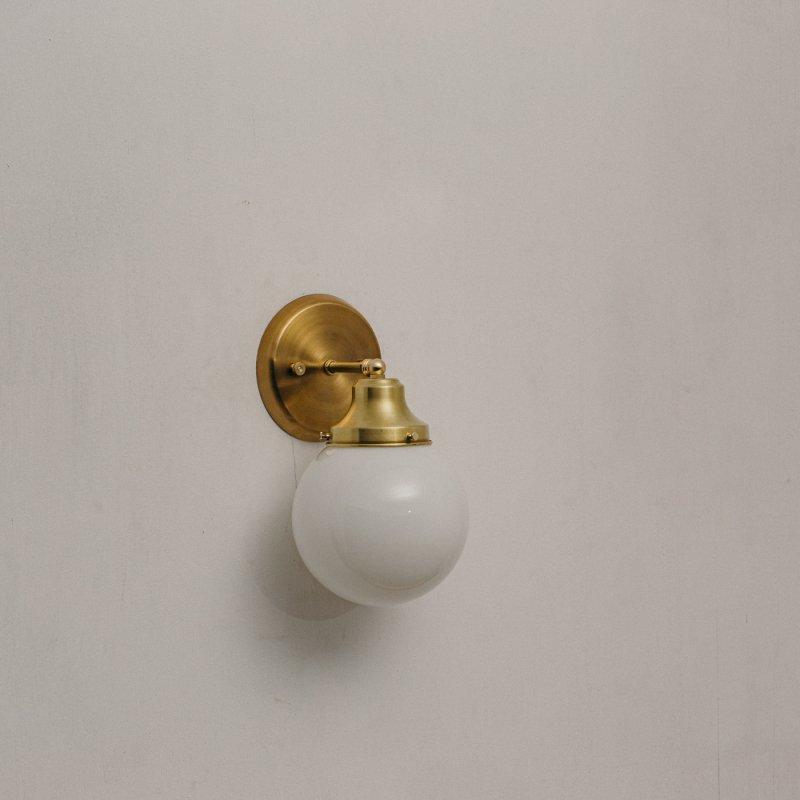 【再入荷】OBL047<br>GLASS SHADE BRACKET LAMP真鍮ガラスシェードブラケットランプ 防滴仕様
