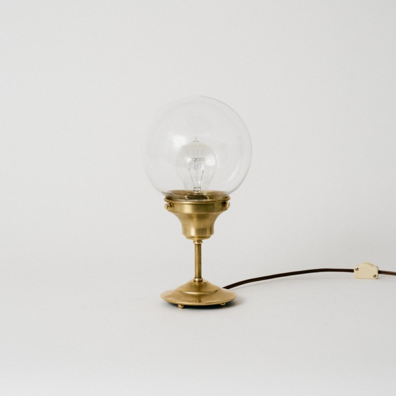 OSL078-CL<br>GLASS SHADE STAND LIGHT - S size CL / 真鍮ガラスシェードスタンド照明