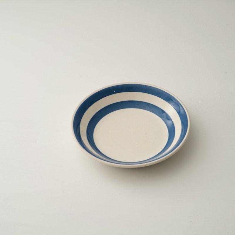 PLATE <br>プレート ブルー ストライプ 直径 19.0cm