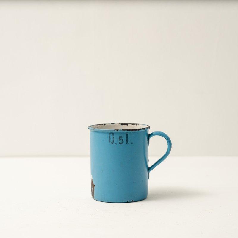 CUP <br>ホーロー コップ ブルー