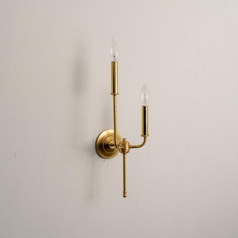 OBL042B<br>2 BULBS BRACKET LAMP / 真鍮2灯ブラケットランプ