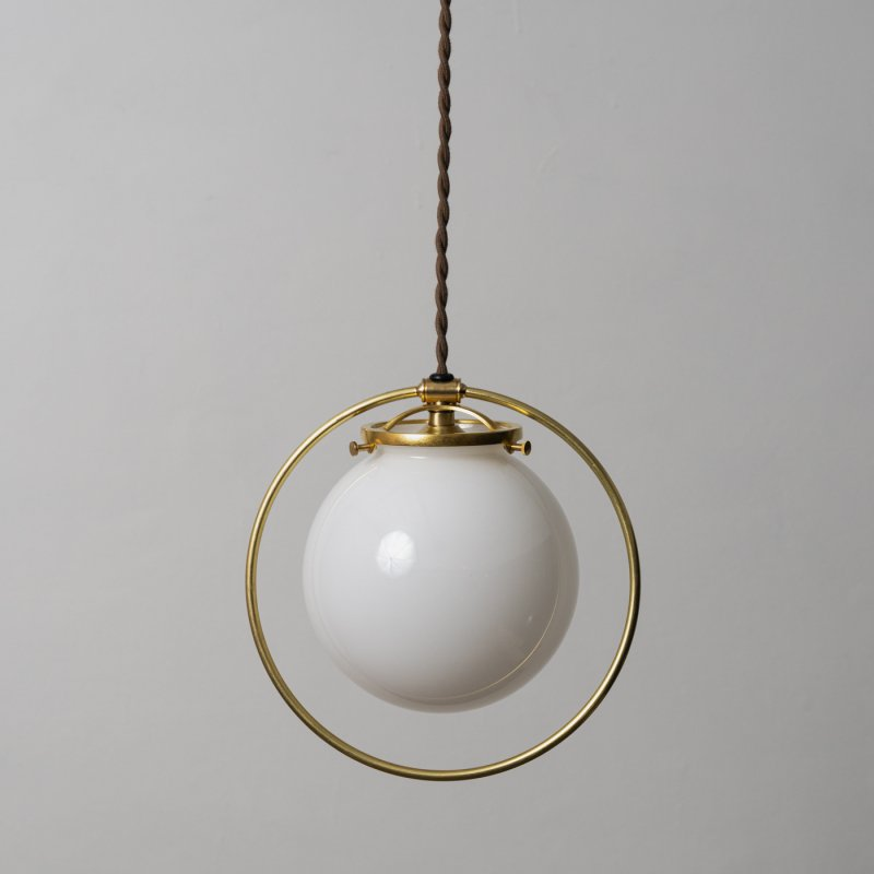 OPL064-WH<br>HOOP LAMP GLASS SHADE / 真鍮照明