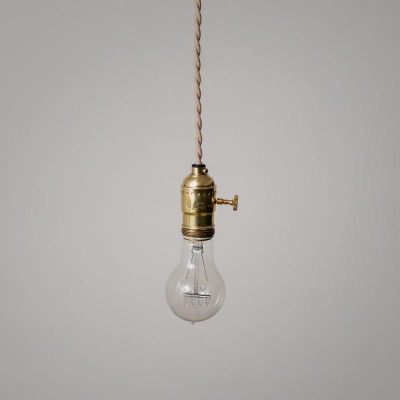 OPL001-U<br>EDISON LAMP - Switch / 真鍮エジソンランプ