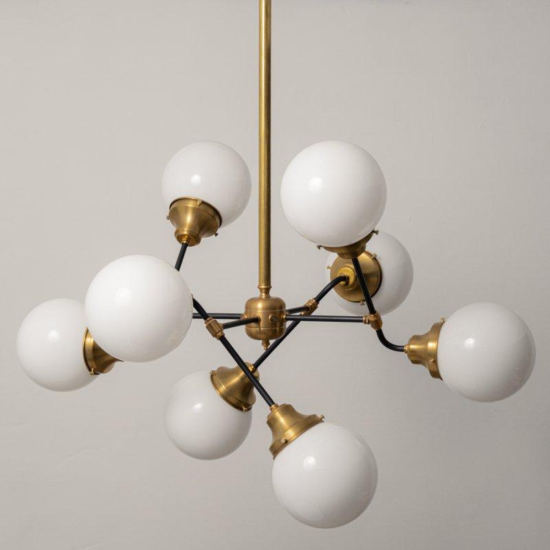 OCH013B<br> 8 BULBS LIGHT / 真鍮8灯照明シャンデリア