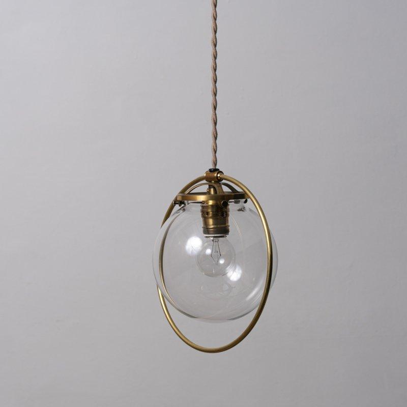 OPL064-CL<br>HOOP LAMP GLASS SHADE / 真鍮照明