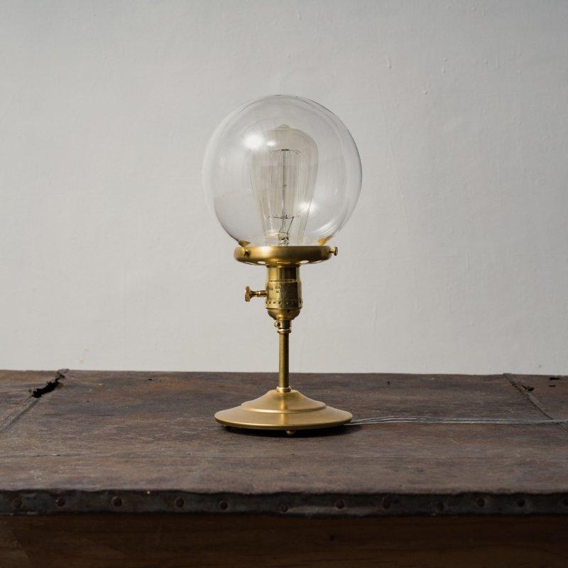 OSL081-CL<br>GLASS SHADE STAND LIGHT - S size CL / 真鍮ガラスシェードスタンド照明