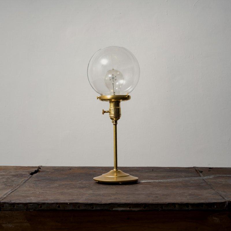 OSL082-CL<br>GLASS SHADE STAND LIGHT - L size CL / 真鍮ガラスシェードスタンド照明