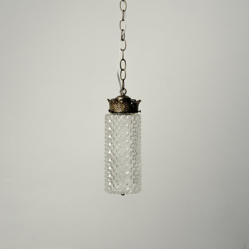 VINTAGE PENDANT LAMP - A <br> ヴィンテージ ガラスペンダントランプ A