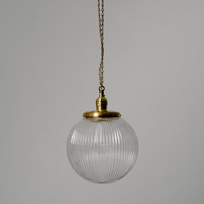 OPL020<br>GLASS SHADE LAMP-L size LC / 真鍮ガラスシェード照明