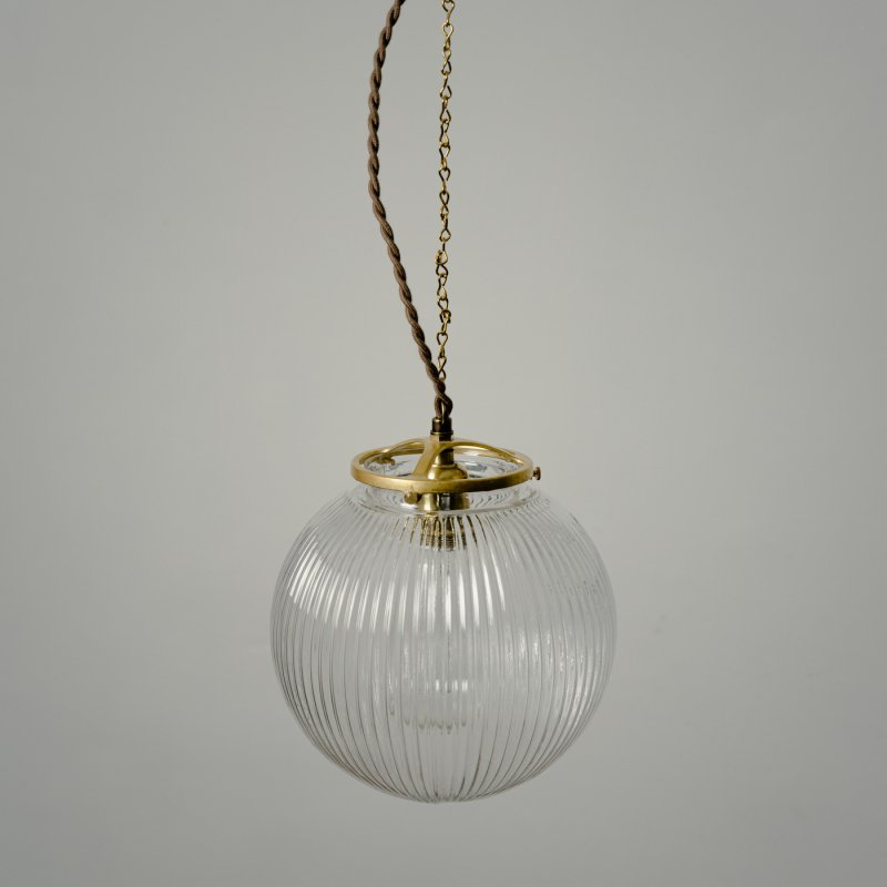 OPL021<br>GLASS SHADE LAMP-L size LC / 真鍮ガラスシェード照明