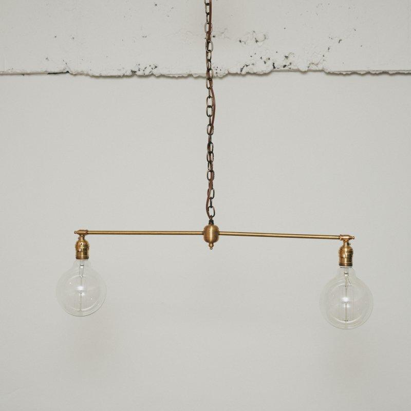 OPL003B<br>2 BULBS LIGHT / 真鍮2バルブスライト