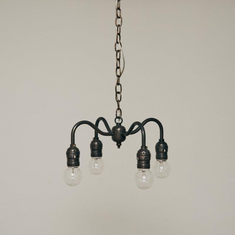 OPL005C-A<br>4 BULBS LIGHT - Black Brass / 真鍮4灯照明