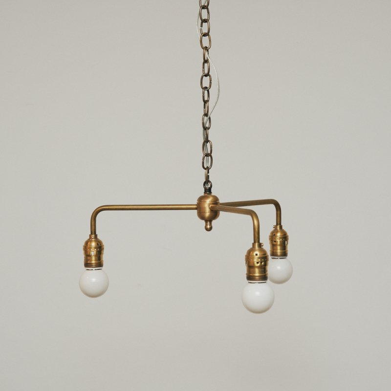 OPL016B<br>3 BULBS LIGHT / 真鍮3灯照明