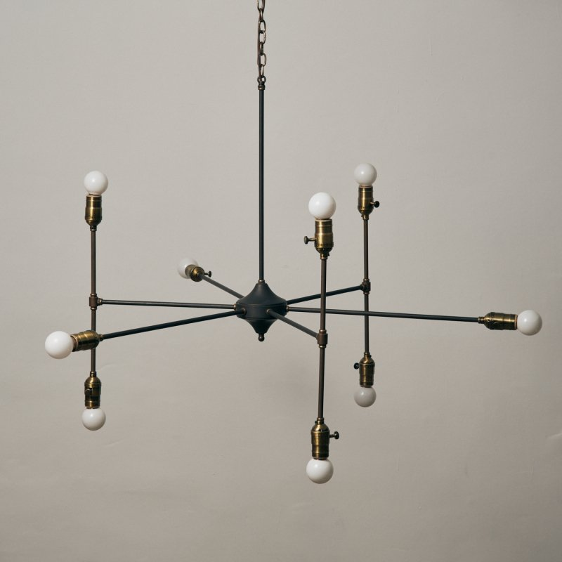OCH030<br>9 BULBS CHANDELIER / 真鍮9灯照明シャンデリア