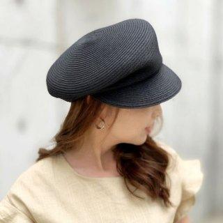 キャスケット アシンメトリー ストロー ベーカリー マリン帽