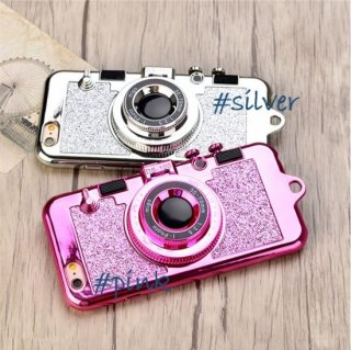 <img class='new_mark_img1' src='https://img.shop-pro.jp/img/new/icons20.gif' style='border:none;display:inline;margin:0px;padding:0px;width:auto;' />スマホケース iPhoneケース スマホカバー グリッター カメラ型 レンズスタンド