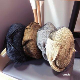 サマーベレー帽 ハット チュール 麦わら帽子 ベールベレー