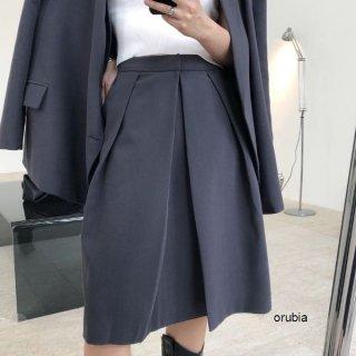 スカート ギャザー フォーマル ボリュームフレア ひざ丈 ボトム セットアップ可能 スーツ