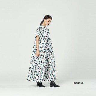 レトロデザイン 半袖 シャツ ワンピース ロング フレア マキシ丈