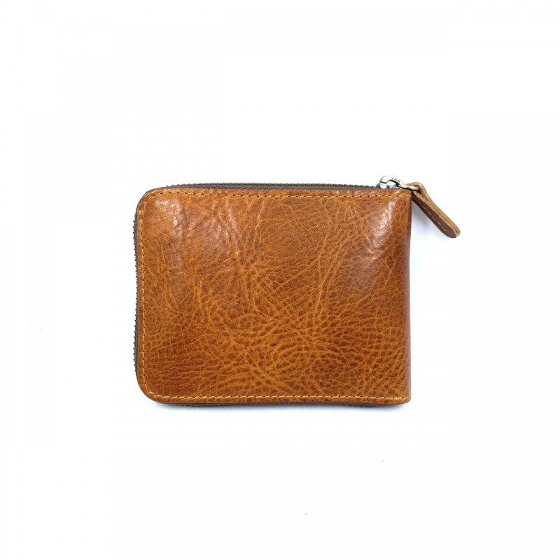 【父の日限定セール】M9ヌメ革ラウンド折財布