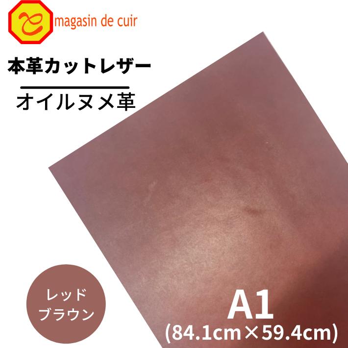 A1オイルヌメ(3503レッドブラウン)