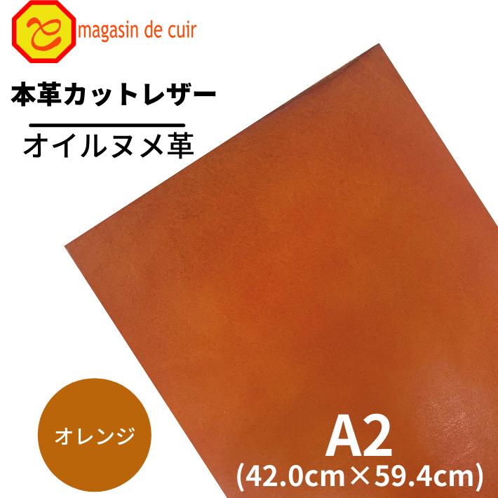 A2オイルヌメ(3704オレンジ)
