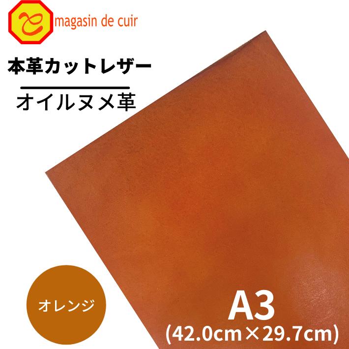 A3オイルヌメ(3704オレンジ)