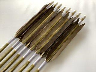 黒手羽 訳あり グリーンカーボン矢8本セット 76-20 薄紫色糸