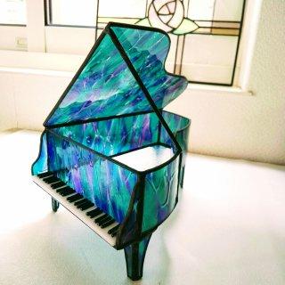ステンドグラス グランドピアノ【宵闇の時】