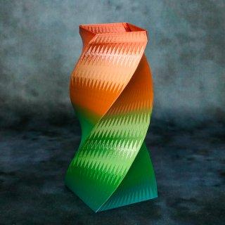 【一点物】 「002」 幾何学模様のグラデーション 箸立て&花瓶風
