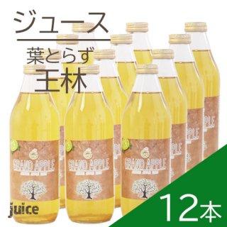 青森葉とらずりんご無添加ストレートジュース「王林」12本