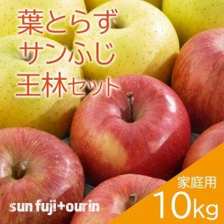 青森葉とらずりんごミックス(サンふじ・王林)家庭用10kg(約28〜40個)※12月初旬頃より発送予定