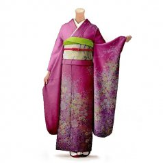 振袖 フルセット 花柄 Mサイズ ピンク・オレンジ系 (中古 リユース 美品) 46150