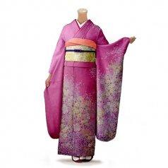 振袖 フルセット 花柄 Lサイズ ピンク・オレンジ系 (中古 リユース 美品) 46150
