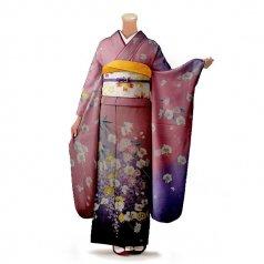 振袖 フルセット 古典 Mサイズ ピンク・オレンジ系 (中古 リユース 美品) 40203